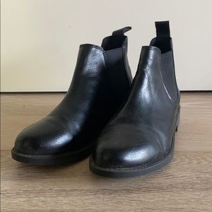 H&M Faux Leather Chelsea Style Boots 6